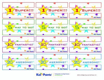 childrens reward charts free