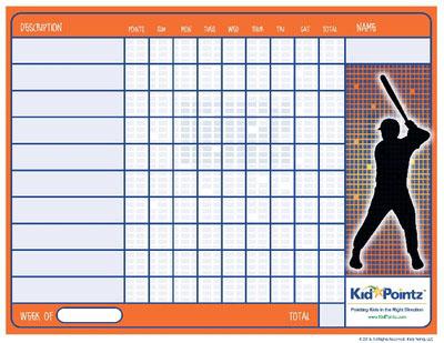 Kids Charts: Baseball Theme