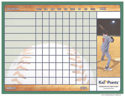 photo relating to Baseball Hitting Charts Printable identify Young children Printable Routines Chart Athletics Concept Child Pointz