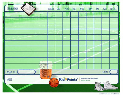 Behavior Chart: Basketball Theme