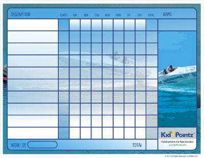Kids Charts: Boats Theme