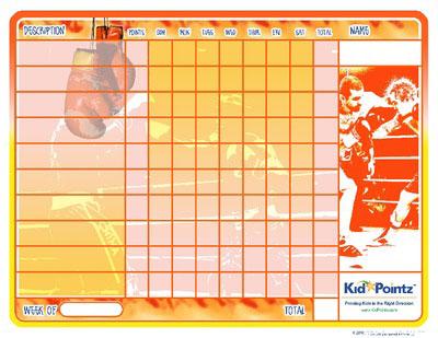 Kids Charts: Boxing Theme