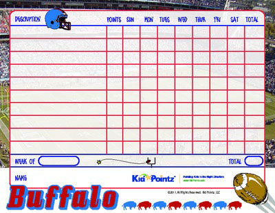 picture relating to Buffalo Bills Printable Schedule known as Printable Chart Athletics Staff members Topic Child Pointz