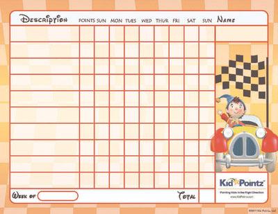 Kids Charts: Car Theme