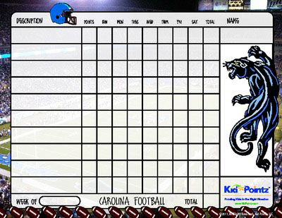 Behavior Chart: Carolina Panthers