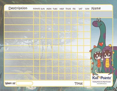 Dinosaur Behavior Chart for Kids
