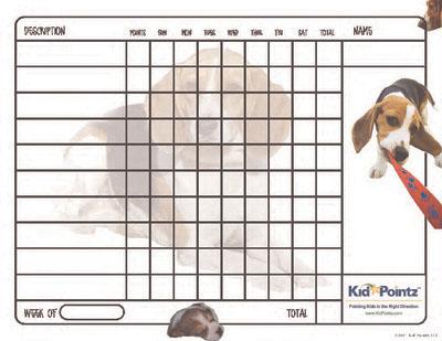 Printable Behavior Chart: Beagles Theme