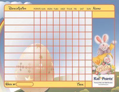 Behavior Chart: Easter Theme