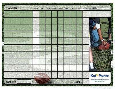 Printable Charts: Football Theme