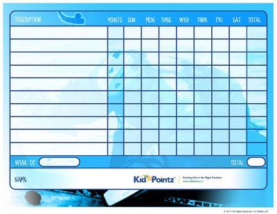 Kids Chart: Hockey Theme