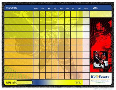Charts for Kids:  Hockey Theme