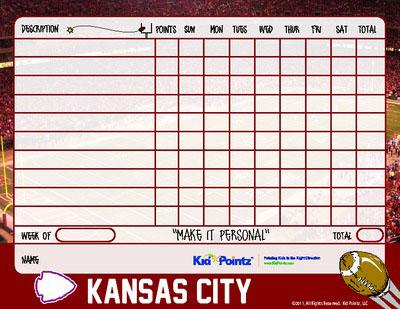 Kids Chart : Kasas City Chiefs