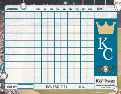picture about Kansas City Royals Printable Schedule identified as Printable Chart Sports activities Employees Concept Youngster Pointz