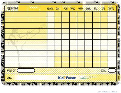 Kids Chart: Karate Theme