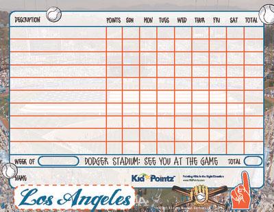 Chart for Kids: LA Dodgers