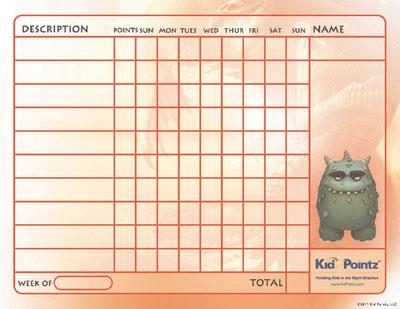 Behavior Chart: Monster Theme