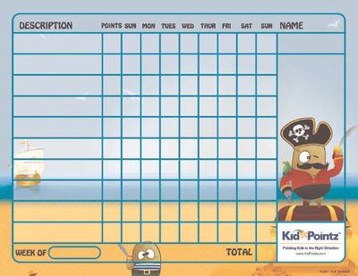 Printable Chart: Pirates Theme