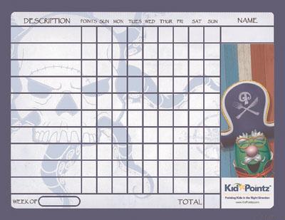 Kids Charts: Pirates Theme