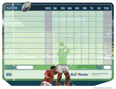 Kids Chart: Rugby Theme