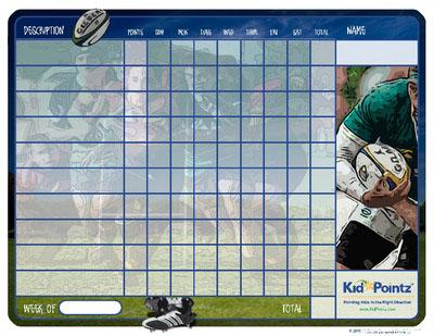 Behavior Chart: Rugby Theme