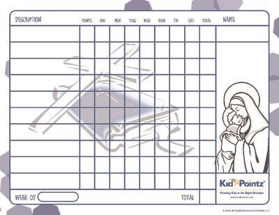 Children Behavior Charts: Bible Themes