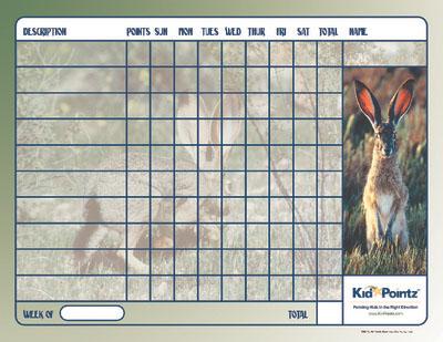 Kids Chart: Bunnies Theme