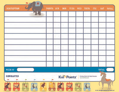 Behavior Chart: Circus Theme