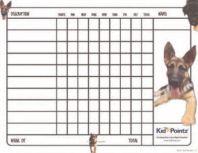 Kids Charts: German Shepherds Theme