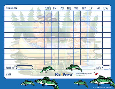 Charts for Behavior: Fishing Theme