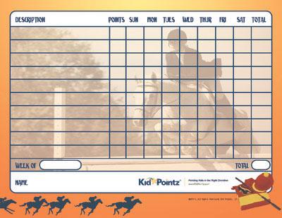 Printable Chart: Horses Theme