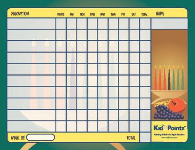 Kids Chart: Kwanzaa Theme