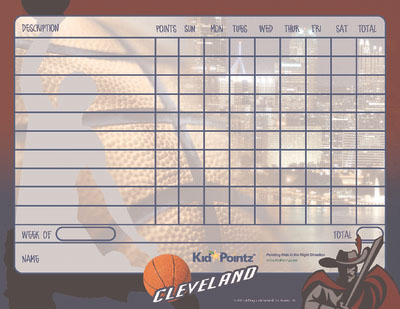 graphic regarding Cavs Schedule Printable referred to as Printable Chart Sports activities Employees Concept Child Pointz