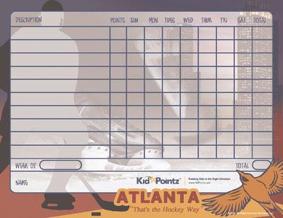Behavior Chart: Atlanta Thrashers Theme