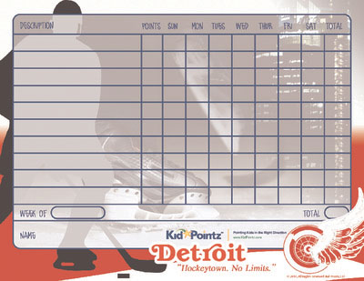 photograph about Printable Red Wings Schedule called Printable Chart Sports activities Staff members Concept Little one Pointz