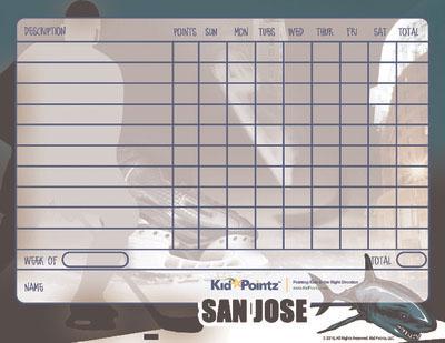 Printable Charts: San Jose Sharks Theme