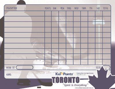 Child Behavior Chart: Toronto Maple Leafs Theme