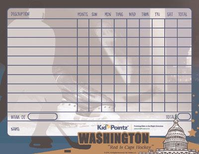 Charts for Kids: Washington Capitols Theme