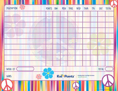 Free Printable Behavior Charts  Improves Behavior  Kid Pointz