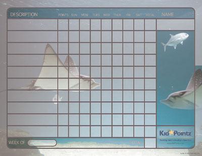 Fish Themed  Behavior Chart for Kids