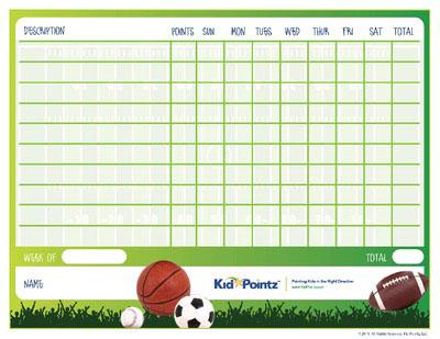 Kids Charts: Sports Activities