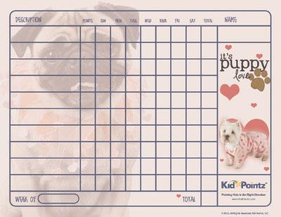 Behavior Chart: Valentine