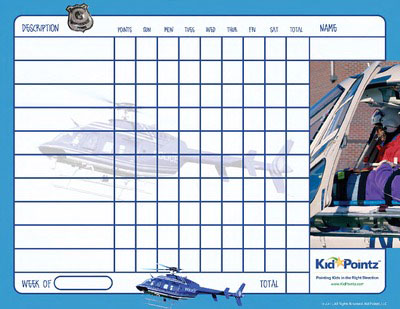 Charts for Kids: Helicopter Theme