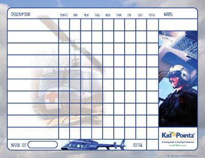 Children Behavior Charts: Helicopter
