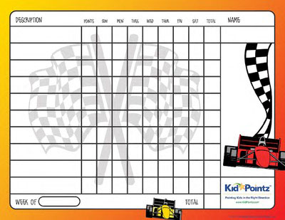 Behavior Charts | Cars Theme | Kid Pointz