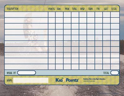 Kids Charts: Wakeboard Theme