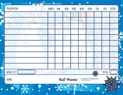 Charts for Kids: Wintertime Theme