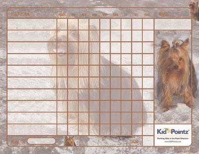 Kids Behavior Chart: Yorkshire Terrier Theme