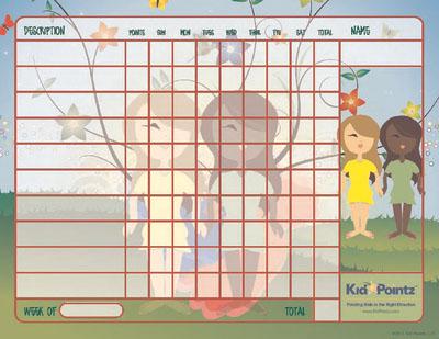 Charts for Kids: Springtime Theme