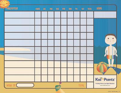 Behavior Chart: Summer Theme