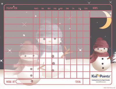 Chart for Kids: Wintertime Theme